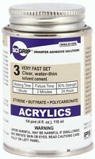 Weld-On 3 SCIGRIP, IPS Corp. Acrylic Solvent Cement 4 Oz. Can Weldon, Weld On