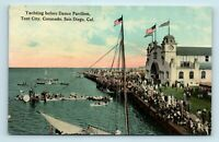 San Diego, CA - EARLY 1900s VIEW OF YACHTING & DANCE PAVILION - POSTCARD - Y5