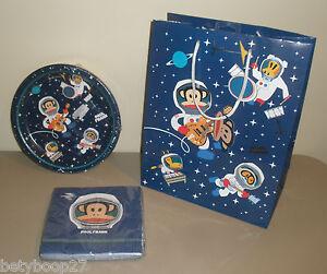 Paul Frank Julius Space Monkey Birthday Party Plates Napkins Gift Bag Set LOT