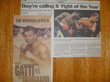 Arturo Gatti Boxing Newspaper Clippings vs Thomas Damgaard Ivan Robinson 1998