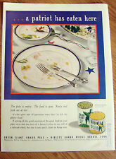 1943 Jolly Green Giant Ad A Patriot Has Eaten Here