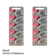 Maxell CR1220 3 Volt Lithium Button Cell Batteries (10 Batteries)