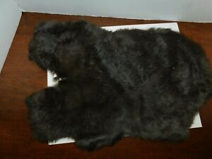 NICE TANNED RABBIT FUR PELT -------- SOFT AND READY FOR USE (M-R-9)