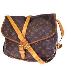 Auth Louis Vuitton Saumur 35 Shoulder Bag Monogram Leather Brown M42254 66V1822