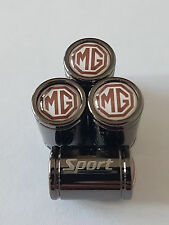 MG White top Sport Titanium Deluxe Alloy Valve Dust Caps All Models MG3 GS ZT ZS