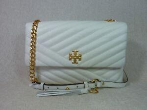 NEW Tory Burch New Ivory Kira Chevron Flap Shoulder Bag $528