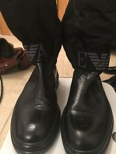 Emporio Armani Men's Black Walking Boots 10 UK
