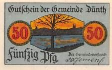 Notgeld 50 Pfennig DÜNTH Gemeinde DNS Dynt