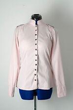 Damen Langarm Bluse / Hemd rosa Gr. XS Capsize Schulterklappen Uniform Stil