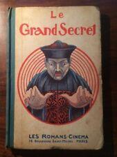 LES ROMANS-CINEMA  LE GRAND SECRET 1921 EO Dos toilé