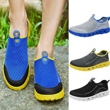 Mens Water Sandals Beach Slip On Shoes Breathable Casual Slippers Clogs Shoes