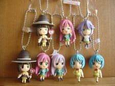 Rare! Rosario + Vampire Mascot Keychain Figure 8 Types All Set & Sleeve 2 sheets