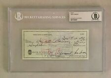 Vince Lombardi Signed 1964 Check Autographed Beckett BAS AUTO Packers HOF