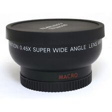 37mm 0.45x Wide Angle Macro Conversion Lens 0.45x37 For DSLR Camera DV Universal