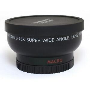 37mm 0.45x Wide Angle Macro Conversion Lens 0.45x37 For DSLR Camera DV Universal