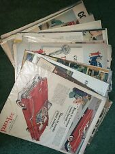 lot of 34 50s and 60s magazine ads cars different makes