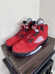 Size 9🔥Nike Air Jordan Retro 5 Raging Bull 2021🔥DD0587-600🚀Fast Shipping🚀