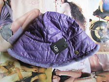 UGG Hat Bucket Quilted Cloche Shearling Purple NEW $95