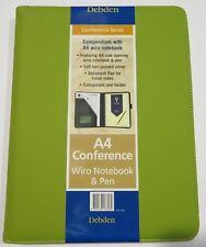 Compendium Debden A4 Fashion PU Green With Wiro Pad