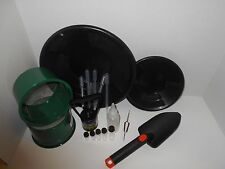 M10 Black Mini Gold Classifier Screen & Gold Pan Panning Kit SPECIAL PRICE!!!!
