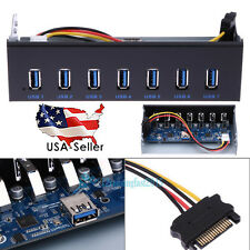 "7 Port 5Gbs USB 3.0 19-pin Hub 5.25"" CD-ROM Drive Bay Front Panel HUB For Window"