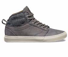 VANS Alomar (Tweed) Gray UltraCush Leather Skate Shoes MEN'S 8