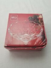 "Mikasa 5"" Round Crystal Snowflake Footed Bowl Japan WY960/211 Christmas"