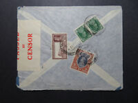 India 1939 Censored Airmail Cover to USA  - Z10808