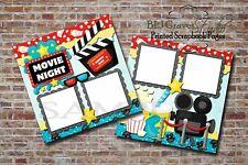 Movie Night Popcorn Soda Family 2 PRINTED Premade Scrapbook Pages BLJgraves 38