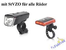 XLC LED Akku Fahrrad  Beleuchtung Titania mit StVZO Vorderlicht Rücklicht  Set