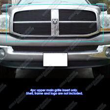 Fits 2006-2008 Dodge Ram Black Main Upper Billet Grille Grill Insert