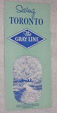 "Vintage Brochure ""Seeing Toronto: The Gray Line Motor Tours 1961 Niagara Falls"