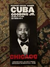 Chicago  ad/flyer Broadway musical   NYC Cuba Gooding Jr theatre