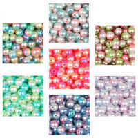 50-500Pcs Simulation Round Pearl Spacer Loose Beads Hole DIY Craft Making Decor