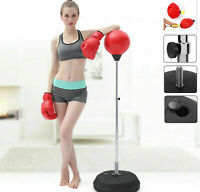 Adult Punching Ball Bag Boxing Punch Exercise Sports Set With Gloves Gift