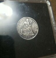 1890 One Dime  . 10 cent coin original. Uncleaned