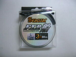 NEW Seaguar FXR Boat 100m 12lb #3 Clear 0.285mm Fluorocarbon Leader Line Japan