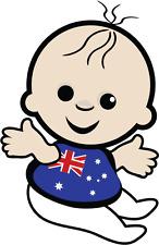 "Baby Australia Flag Car Bumper Sticker 4"" x 5"""