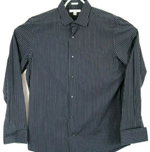 Banana Republic Mens Woven in Italy Large Button Up Cotton Shirt Back