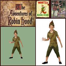 Robin Hood Prince Thieves BookWeek Boys Costume M 7-9y Medieval Hero Warrior Elf