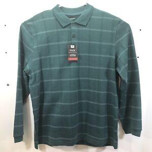 Van Heusen Flex Classic Fit Long Sleeve Polo Shirt Size XL MSRP $56 Men Green