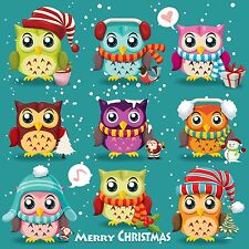 Wentworth Wooden Owl Puzzle Christmas 230 Piece Wood Merry Christmas Jigsaw