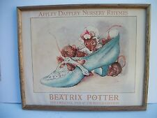 "Beatrix Potter Framed Poster Appley Dappley Nursery Rhymes 20"" x 16"" Nursery"