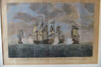 NAUTICAL ENGRAVING  PICTURE THE BRAVE CAPT TYRREL Harrison's Edition of Rapin