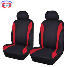 6 PCS 2 Fronts Car Seat Covers Red Color Poly Fabric Mesh Washable Breathable