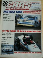 CARS CAR CONVERSIONS MAGAZINE OCT 1986 METRO 6R4 RACING DRIVER SECONDHAND RACE C