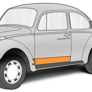 "1952-1979 VW Beetle and Super Door Skin LH Lower Repair Section 37"" x 5"" 303733"