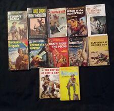Vintage Paperback Westerns-Bennet Foster,Ernest Haycox,Tom Blackburn,Luke Short