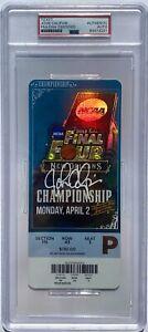 JOHN CALIPARI SIGNED KENTUCKY 2012 CHAMPIONSHIP BASKETBALL TICKET PSA/DNA