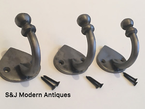 Single Coat Hook Iron Antique Modern Spearhead Vintage Black Grey Hat Rack Set 3